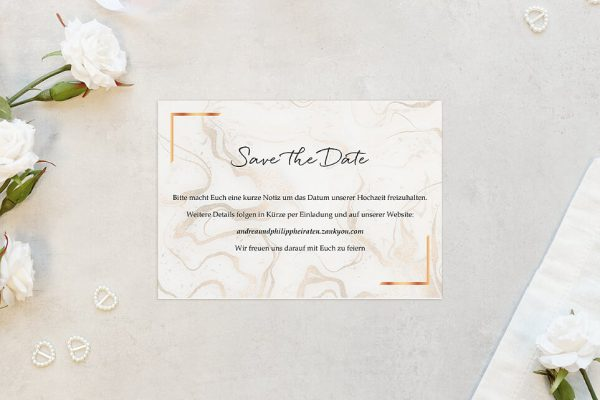 Save the Date-Karten Batik Marmor Save the Date Karten