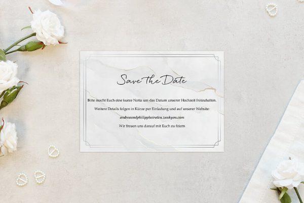 Save the Date-Karten Batik Mittelalterlich Save the Date Karten