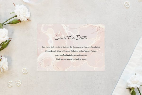 Save the Date-Karten Aprikosen Explosion Schick Save the Date Karten