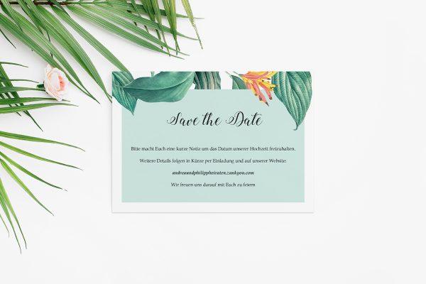 Save the Date-Karten Tropical Aechmea Save the Date Karten