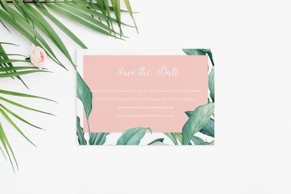 Save the Date-Karten Tropical Topisch wild Save the Date Karten