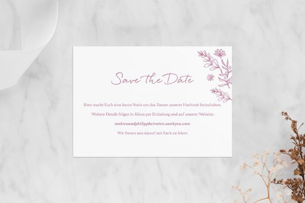 Save the Date-Karten Rosenpracht Traumhaft Save the Date Karten