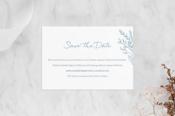 Save the Date-Karten Rosenpracht mit Gräsern Save the Date Karten