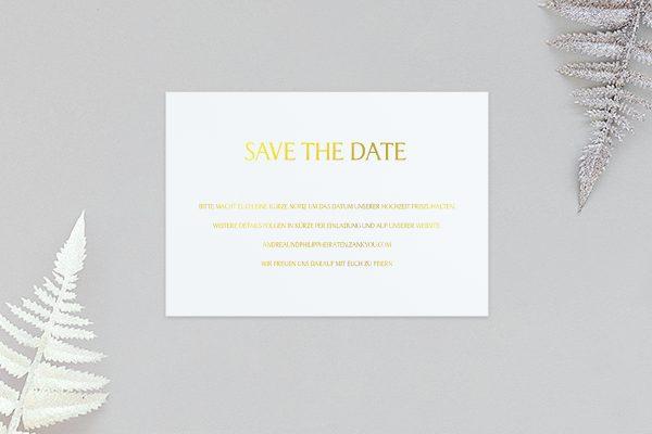Save the Date-Karten Prachtvoll harmonisch Save the Date Karten