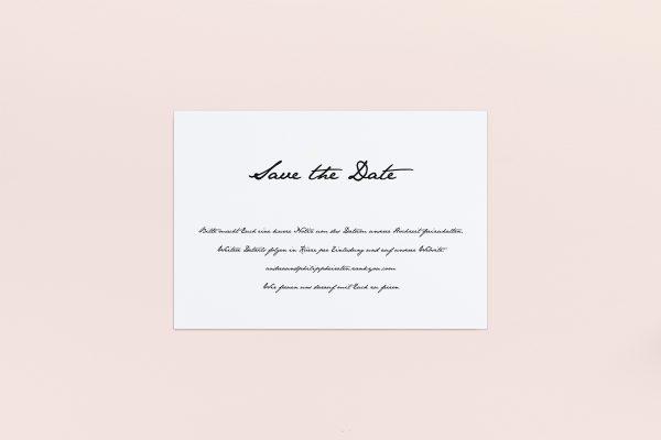 Save the Date-Karten Minimalistisch Smooth Jazz Save the Date Karten