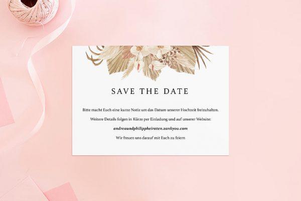Save the Date-Karten Rosenpracht Orientalisch Save the Date Karten