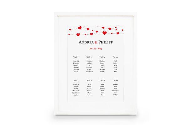 Extras Fingerabdruck Simple Love Sitzplan Hochzeit