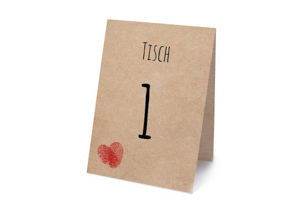 Extras Fingerabdruck Liebeserklärung Tischnummern