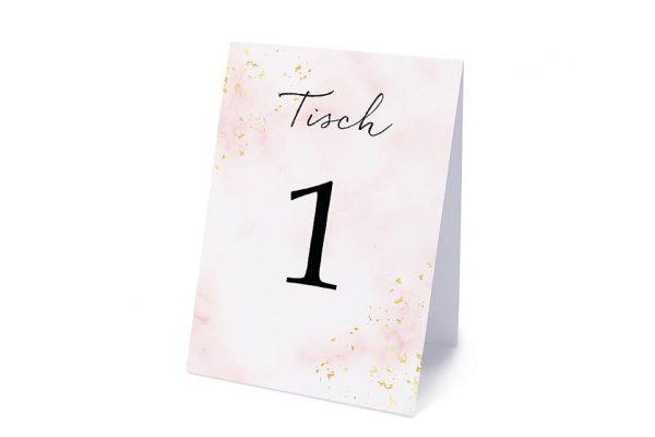 Extras Morgenröte Rosa Hauch Tischnummern