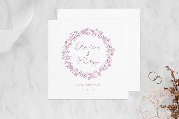 Hochzeitseinladungen Hochzeitseinladungen Rosenpracht Traumhaft