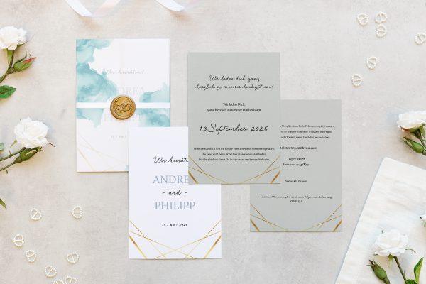 Hochzeitseinladungen Hochzeitseinladungen Himmel Strahlend