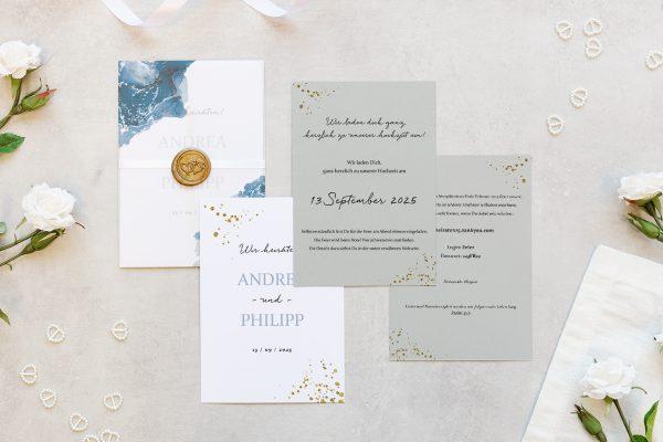 Hochzeitseinladungen Hochzeitseinladungen Himmel Tiefblau
