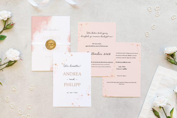 Hochzeitseinladungen Hochzeitseinladungen Aprikosen Explosion Frisch