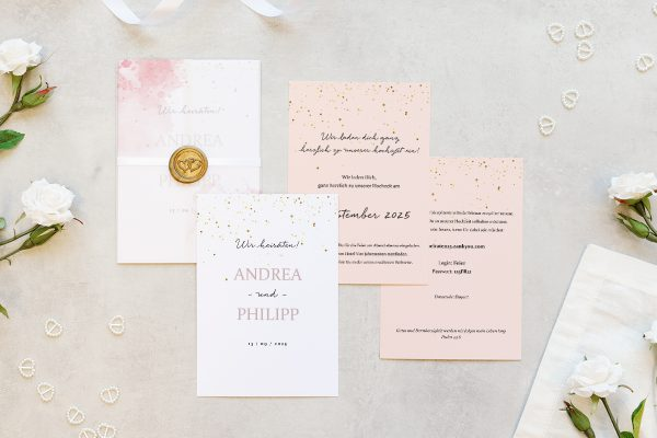 Hochzeitseinladungen Hochzeitseinladungen Morgenröte Unbeschwert
