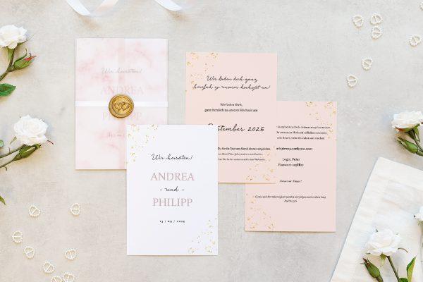 Hochzeitseinladungen Hochzeitseinladungen Morgenröte Rosa Hauch
