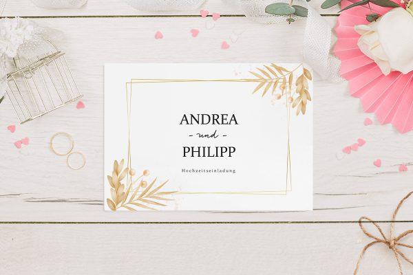 Hochzeitseinladungen Hochzeitseinladungen Floral Elegant Traditionell