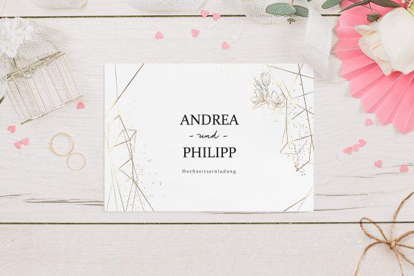 Hochzeitseinladungen Hochzeitseinladungen Floral Elegant Blumenzeichnung