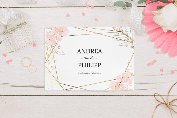 Hochzeitseinladungen Hochzeitseinladungen Floral Elegant Blütenrahmen