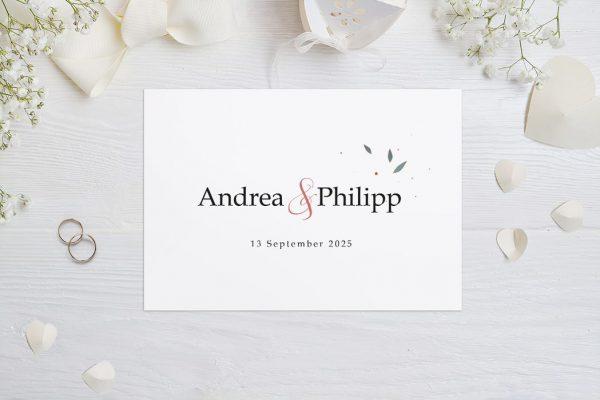 Hochzeitseinladungen Hochzeitseinladungen Klassich Ruhig