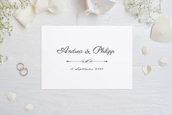Hochzeitseinladungen Hochzeitseinladungen Klassich Unendlich