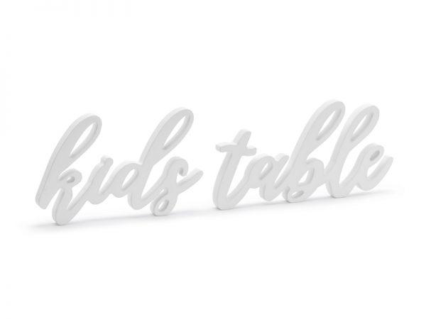 "Deko und Geschenke Shop Holzschriftzug ""Kids Table"""