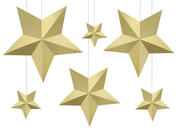 Deko und Geschenke Shop Deko-Sterne Gold