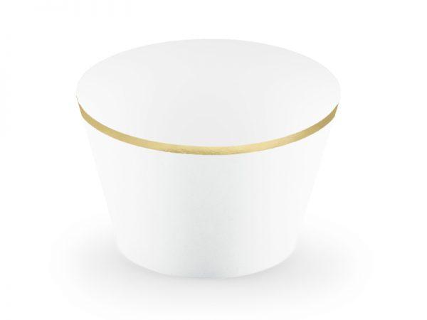 Candybar Hochzeit Cupcake-Wrapper Weiß