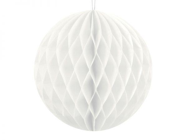Deko und Geschenke Shop Wabenball Weiß 10cm