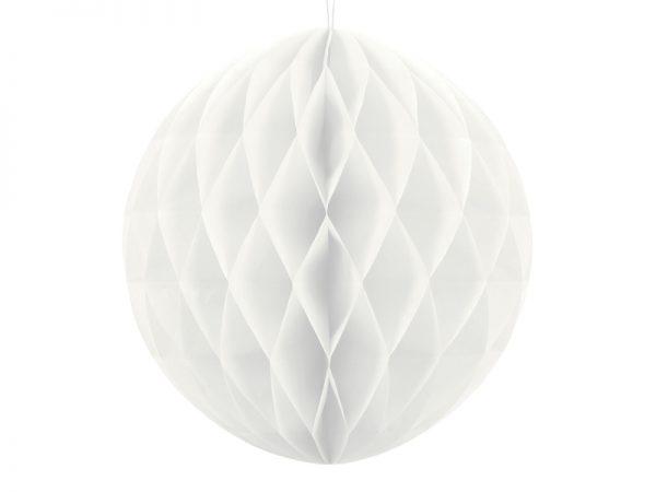 Deko und Geschenke Shop Wabenball Weiß 40cm