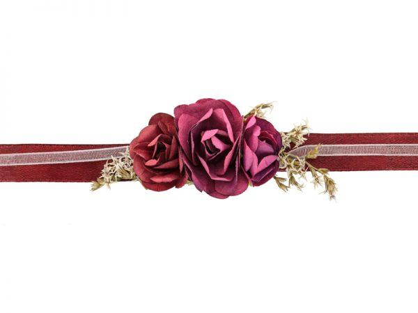 Deko und Geschenke Shop Blumenarmband Rote Rosen