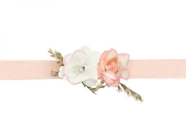 Deko und Geschenke Shop Blumenarmband in Rosa und Cremefarben