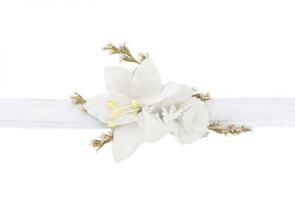 Deko und Geschenke Shop Blumenarmband Weiß