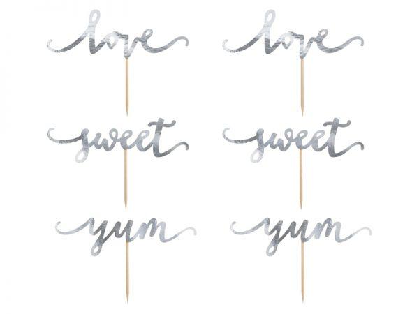 Candybar Hochzeit Cupcake-Aufleger Love