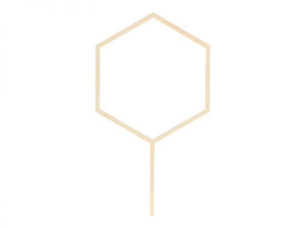 Candybar Hochzeit Holztopper Hexagon