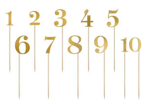 Deko und Geschenke Shop Tischnummern mit Holzstäben