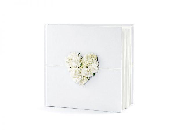 Deko und Geschenke Shop Gästebuch mit Blumenherz