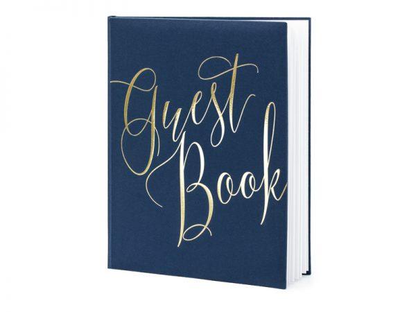Deko und Geschenke Shop Gästebuch Blau