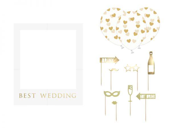 Deko und Geschenke Shop Selfie-Fotorahmen-Set - Best Wedding