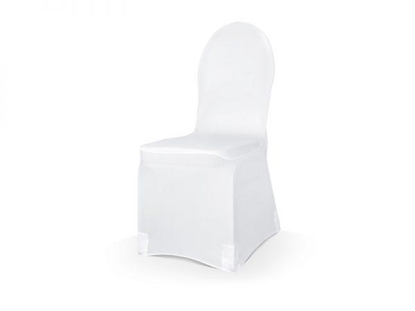 Deko und Geschenke Shop Elastische Stuhlhusse aus mattem Stoff