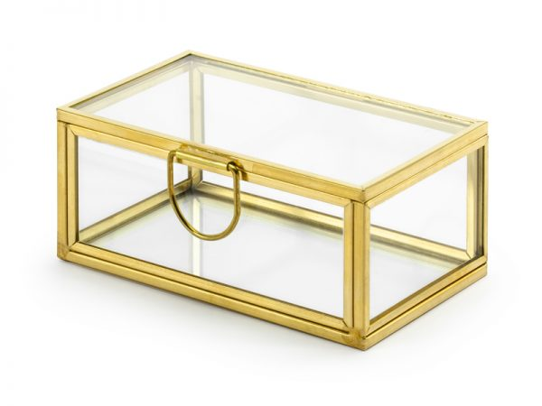 Deko und Geschenke Shop Glasbox für Ringe