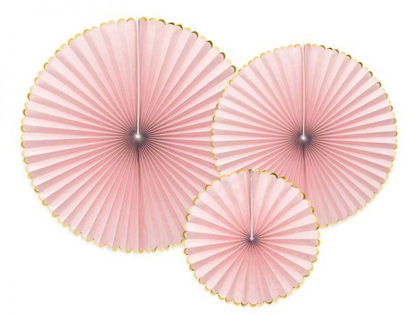 Deko und Geschenke Shop Dekorative Dekofächer Rosa/Gold