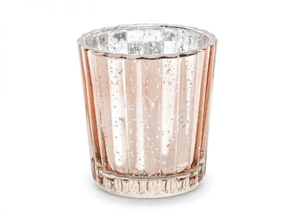 Beleuchtung Hochzeit Glas Kerzenhalter Rosé