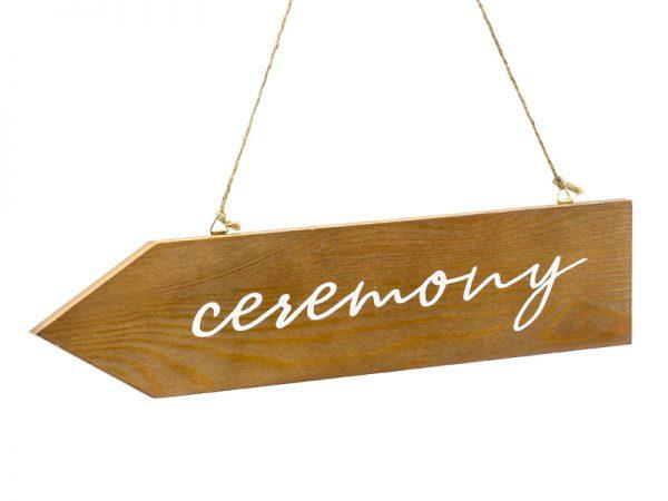 Deko und Geschenke Shop Holzwegweiser Ceremony