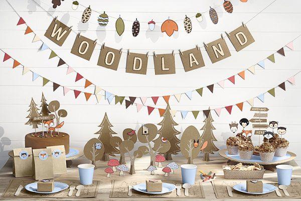 Candybar Hochzeit Cupcake-Set Woodland