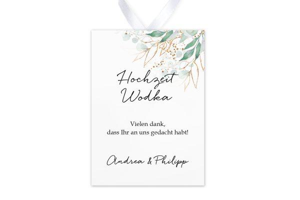 Aufkleber und Anhänger Hochzeit Minimalistischer Kranz Wiesengrün Aufkleber & Etiketten Hochzeit
