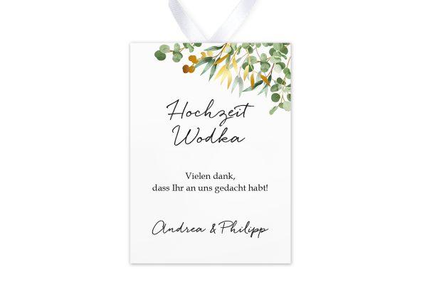 Aufkleber und Anhänger Hochzeit Minimalistischer Kranz Dschungel Grün Aufkleber & Etiketten Hochzeit