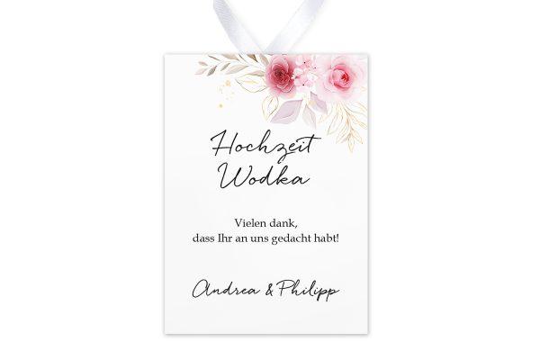 Aufkleber und Anhänger Hochzeit Minimalistischer Kranz Zart Rosa Aufkleber & Etiketten Hochzeit