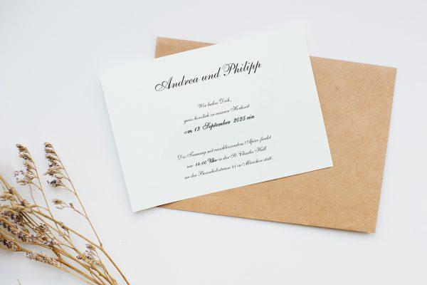 Hochzeitseinladungen Hochzeitseinladungen Kalligraphie Pur