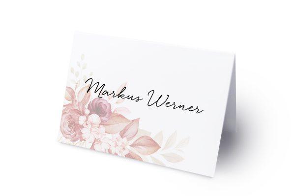 Extras Minimalistischer Kranz Rosa Eleganz Namenschilder & Tischkarten Hochzeit