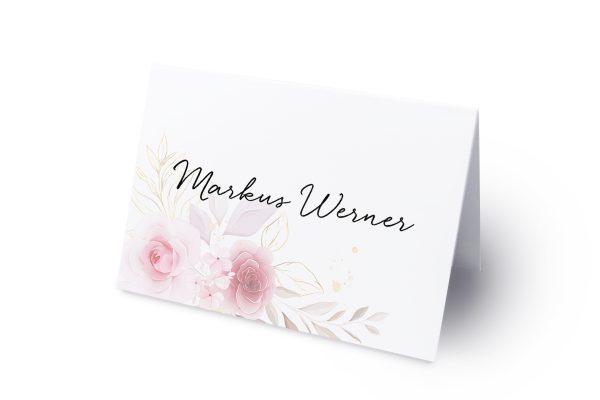 Extras Minimalistischer Kranz Zart Rosa Namenschilder & Tischkarten Hochzeit